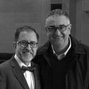 El Dr. Aviñó con el Profesor Pinto, descubridor del L-PRF.